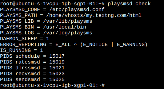 playSMS daemon check